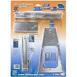 Simonrack 90320000145 - Blister de 4 accesorios para panel perforado, 470 x 340 x 35 mm, color galvanizado