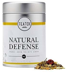 TEATOX Natural Defense, Bio Grüntee mit Ingwer, Dose