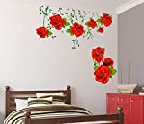 Decals Design Wall Stickers Flowers Rose...
