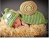 Jastore ® Foto Fotografie Prop Baby Kostüm grüne Schnecke häkel Stricken Handarbeit