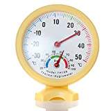 Generic Standing Mini Indoor And Outdoor Thermometer Hygrometer(Yellow) - Best Reviews Guide
