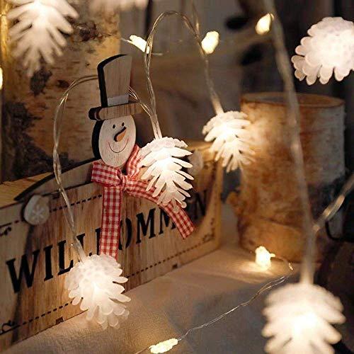 LIANYANG Festival dekoratives Licht, wasserdichte LED-Leuchten blinken Tannenzapfen, um die Hochzeit Geburtstagsfeier-1,5 m 10 Modell Tannenzapfen Licht 10 zu feiern -
