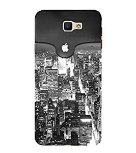 For Samsung Galaxy J7 Prime white icon ( white icon, icon, city, building, grey ) Printed Designer Back Case Cover By CHAPLOOS