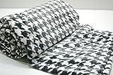 Decke/Umschlagetuches, kariert, Samt, gefühlt wie Seide oder Nerz 310g/m2  260x240 Square anthrazit