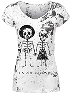 Outer Vision Skeleton Lovers T-Shirt weiß L