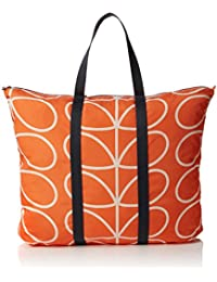 Orla Kiely Women's Giant Linear Stem Foldaway Bag Travel Totes Luggage, Orange (Persimmon), 16x41.5x55 cm (W x H x L)