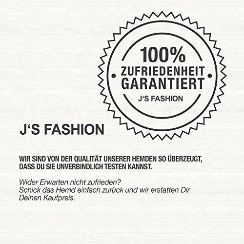 Herren-Hemd – Slim Fit – bügelfrei / bügelleicht – Ideal für Anzug, Freizeit, Business, Hochzeit – viele verschiedene Farben – Langarm Hemden mit Kontrast für Männer - navyblau - S - 5