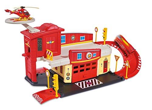 Giochi preziosi ncr18273 - sam il pompiere, caserma dei pompieri con rampa e pista di atterraggio