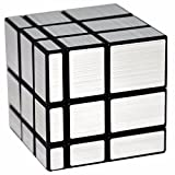 Espejo 3x3x3 Puzzle Cubo, LSMY Toy Negro Plata