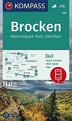 KOMPASS Wanderkarte Brocken, Nationalpark Harz, Oberharz 1:25T: 3in1 Wanderkarte 1:25000 mit Aktiv Guide inklusive Karte zur offline Verwendung in der ... 1:25 000 (KOMPASS-Wanderkarten, Band 455)