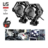 R.J.VON-Bike-Fog-light-led-Super-Bright-With-ON/OFF-Switch-(U-5)-Set-of-2-Pcs.-For-Hero-Motocorp-Passion-Xpro-Disc