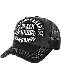 WITHMOONS Gorras de béisbol Gorra de Trucker Sombrero de Vintage Baseball  Cap Meshed Distressed Trucker Hat 72ba148f738