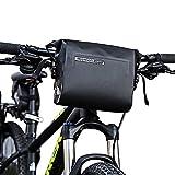 Intsun Impermeabile 3L Borsa da Manubrio Bici Ciclismo Bicicletta per MTB e Bici Manubrio Borsa Anteriore Telaio Superiore della Borsa Tubo in PVC con Chiusura Anteriore Pannier Basket Bag