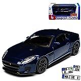 Bburago Jaguar F-Type Coupe Dunkel Blau Ab 2013 1/43 Modell Auto