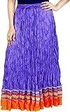 Rangreja Purple Women's Skirt With Orang...