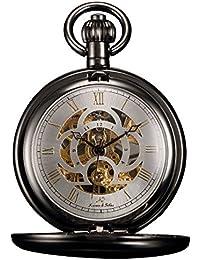 KS KSP009 - Reloj de Bolsillo Unisex Mecánico de Cuerda Manual, Caja Gris