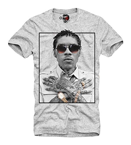 3712bf1b3 e1syndicate T-Shirt VYBZ Kartel Reggae Dancehall Jamaica Weed Ganja