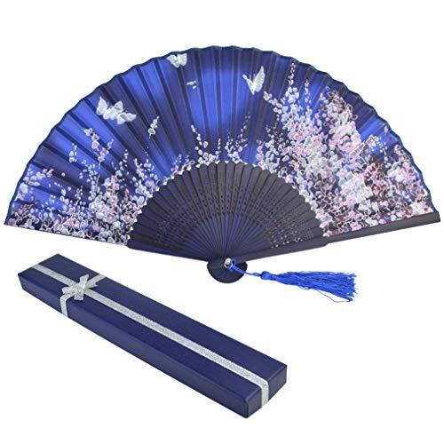 baotongle Handfächer aus Spitze Bambus Fächer mit Geschenkbox für den Sommer Anlässen, Hochzeiten im Freien, (Ferien Tanz Kostüme Frauen)