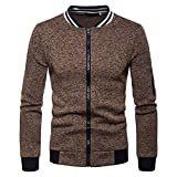 Baofull Herrenbekleidung Marken Strickjacken Pulli Need Coffee Sweatshirt XXL Herren Herren Zipper Pocket Splicing Pullover Langarm Sweatshirt Tops Bluse Brown XX-Large