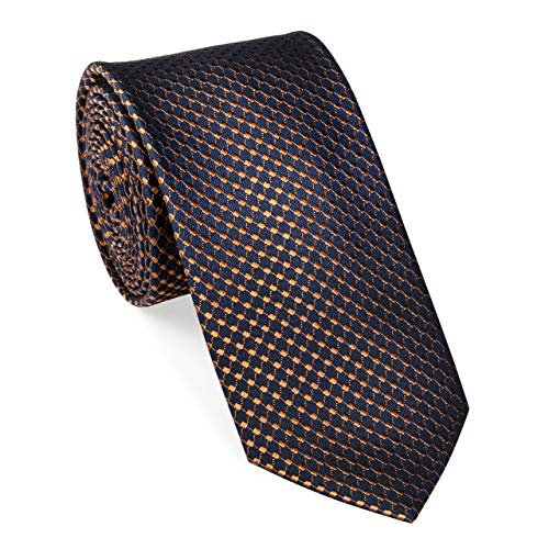 Una Krawatte Seide Quattro 6cm, Farbe cognac (27)