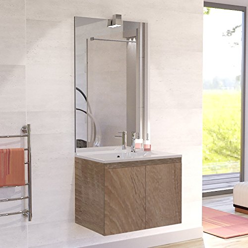 Meuble salle de bain simple vasque PROLINE 80 - Cambrian oak