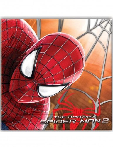 Unique Party Supplies Amazing Spiderman Papier Servietten, 20 Stück (Spider Man Party Supplies)