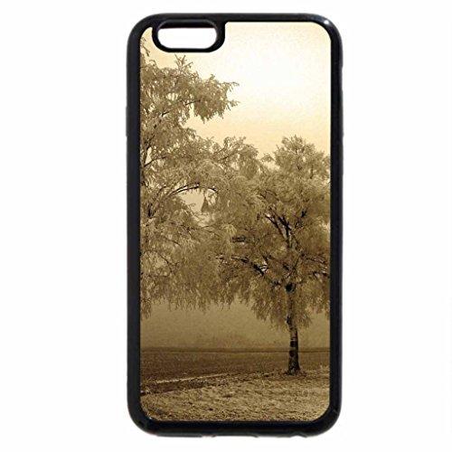 iPhone 6S / iPhone 6 Case (Black) fantastic winterscape in beige hue