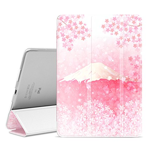 Ayotu Funda para iPad Pro 10.5,Slim Lightweight Auto Wake/Sleep Smart Stand Protective Cover Case with Translucent Frosted Back Magnetic Cover paraApple iPad Pro 10.5 Inch 2017 Release Tablet-The Pink Translucent Pink Case Cover