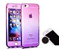 TheTransporter Slim 360 degree Protective Shockproof Front and Back Full Body Tpu Silicone Gel Case Cover For Apple iPhone 6 6s plus Pink / Purple