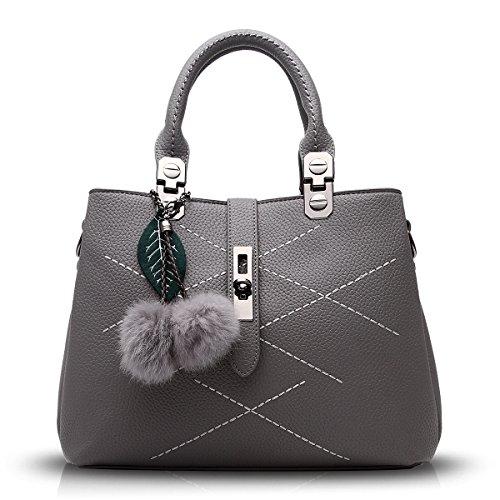 Tisdain Borsa selvaggia della sfera dei capelli della borsa del messaggero del messaggero del sacchetto di spalla del sacchetto di spalla della borsa delle nuove borse 2017 di modo grigio chiaro