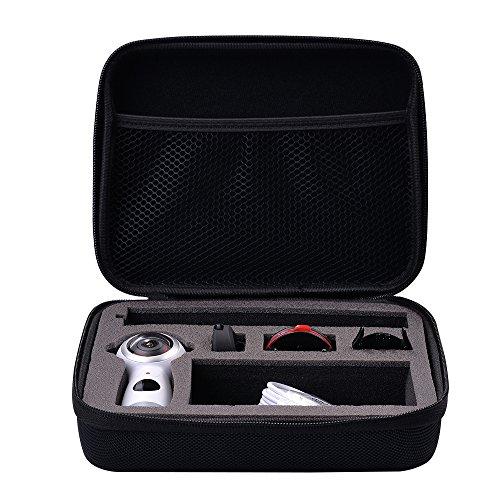 Holaca de Skin de protection en silicone et EVA Étui de rangement pour Samsung Gear 3602017Edition sphérique Cam 360° 4K Camera Sm-c210