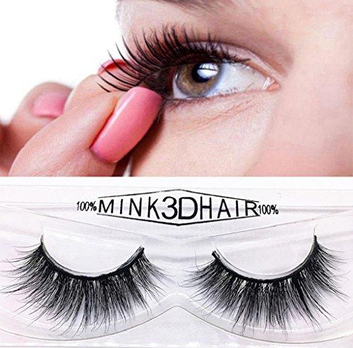 LuckyGirls 1 Paar Luxus 3D Falsche Wimpern Flauschigen Wimpern Lange Dicke Natürliche Eyelasches