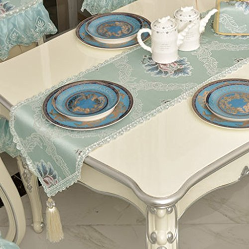 QiangZi Vert Table Runner Wedding Party Dinners Nappe Salon Cuisine Placemat Gland, 34 * 200 CM ( taille : 34*220CM )
