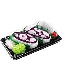 Sushi Socken 1 Paar Tintenfisch dunkelrot EU-Größen: 36 37 38 39 40 41 42 43 44 45 46 in Europa hergestellt, ideal als Geschenk! Originelle Socken bester Qualität, mit Öko-Tex-Zertifikat