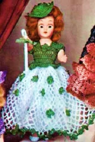 A Vintage 1951 Crochet Pattern ~ Kindle eBook Download (Ireland, Irish, St Patrick's Day, Dolly, Toys, Girls) (English Edition) ()