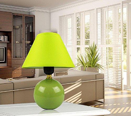 Kesierte E27 tavolo in ceramica lampade da comodino lampada da letto minimalista moderna cinese creativa del tessuto feed caldo e sveglio 13inch decorazioni piccola lampada , c