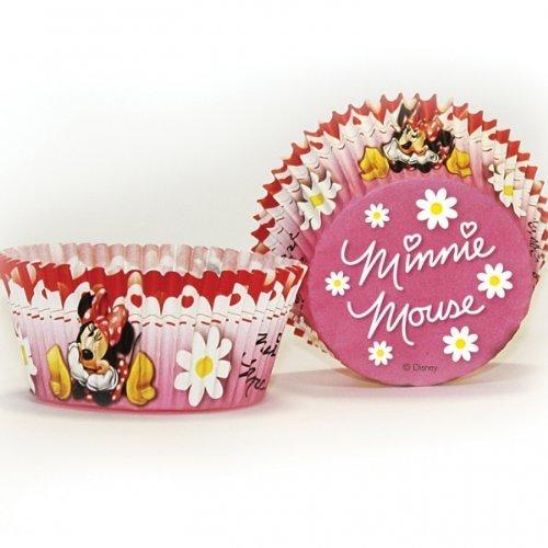 Mickey & Minnie Mouse - Pirottini per cupcake, motivo Minni, confezione da 50, colore: Rosso/A pois