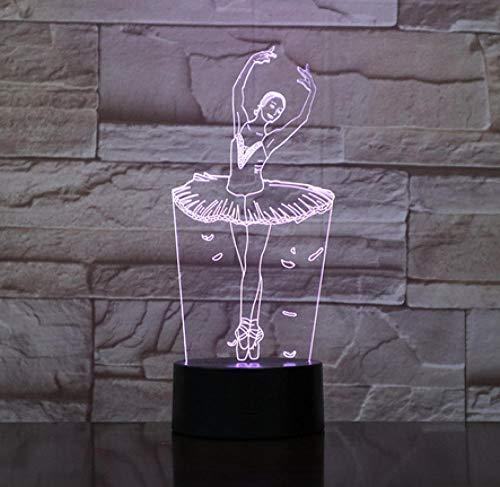 en 3D USB LED Nachtlichter 7 Neuheit LED Tischlampe Kinder Geschenk Nachttisch Dekoration 63 ()