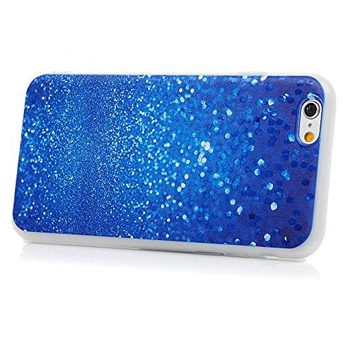 "iPhone 6/6S Silikon Hülle YOKIRIN Crystal Clear Case für iPhone 6/6S (4.7"") Schutzhülle TPU Silikon Handyhülle Skin Shell Premium Case Schale Handycase Backcover Transparent Einhorn Blau Ray"