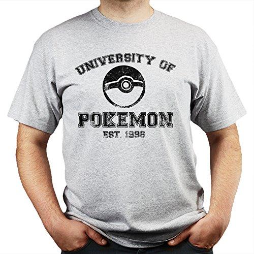University of Poke mon Est. 1996 T-shirt Grau