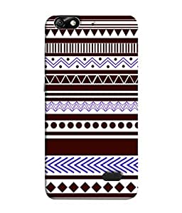 PrintVisa Designer Back Case Cover for Huawei Honor 4C :: Huawei G Play Mini (Brown And Purple Dotted Design)