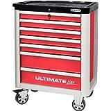 KS Tools ULTIMATEline Werkstattwagen,mit 7 Schubladen,rot/silber, 886.0007