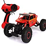 #9: Toyshine Rock Crawler Remote Control Monster Car, Four Wheel Drive, Rechargeable, Orange