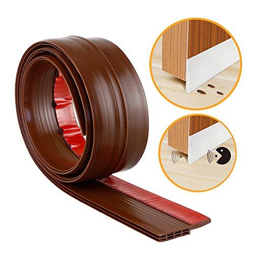 YOUSHARES puerta inferior Sello franja-auto-adhesivo bajo la puerta barrido tiempo desmontaje, anti-ruido, anti-bug en marrón (marrón)