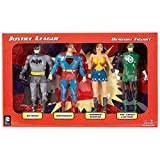 NJ Croce DC Comics Toy - Justice League 4 Figure Bendable Box Set - Batman Superman Wonder Woman Green Lantern