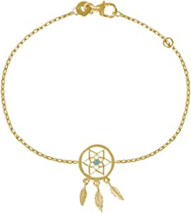 LES POULETTES BIJOUX - Bracelet Plaqué Or Attrape Rêve