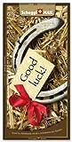 Grusskarte & Schweizer Premium Schokolade, Postkarte - Good Luck
