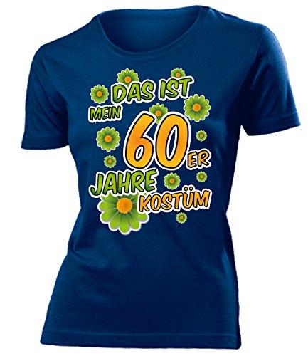 60er Jahre Kostüm Frauen T-Shirt Karneval Fasching Motto Schlager Party Geschenk Geburtstag Karnevalskostüm Gruppenkostüm Paar Disco deko Brille