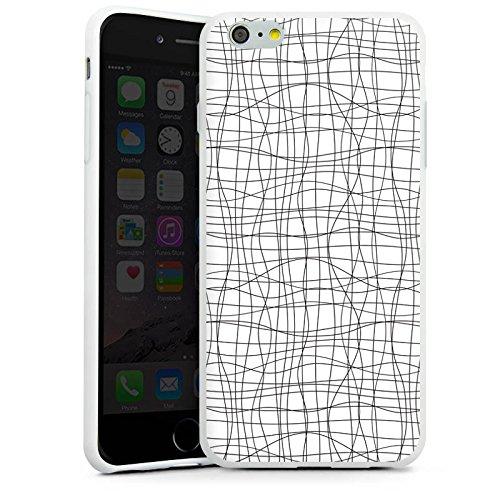 Apple iPhone X Silikon Hülle Case Schutzhülle Doodle Linien Pattern Silikon Case weiß