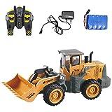 332PageAnn Rc Bagger Spielzeugauto Radlader Baufahrzeuge, 6 Kanal Simulationsfahrzeug Geburtstagsgeschenk Für Kinder